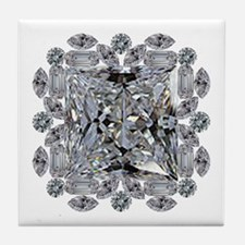Diamond Gift Brooch Tile Coaster