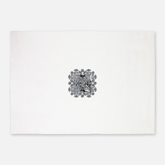 Diamond Gift Brooch 5'x7'Area Rug