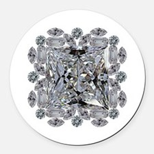 Diamond Gift Brooch Round Car Magnet