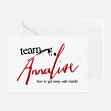 Team Annalise Greeting Card