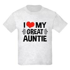 I Love My Great Auntie T-Shirt