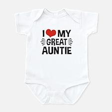 I Love My Great Auntie Infant Bodysuit