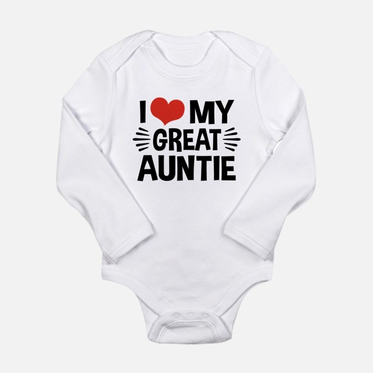 I Love My Great Auntie Long Sleeve Infant Bodysuit