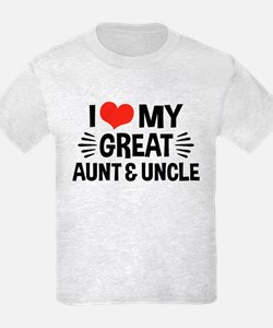 I Love My Great Aunt & Uncle T-Shirt
