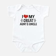 I Love My Great Aunt & Uncle Infant Bodysuit