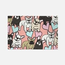 French Bulldogs Pattern Magnets