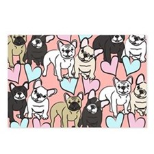 French Bulldogs Pattern Postcards (Package of 8)