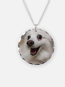 American Eskimo Dog Necklace Circle Charm