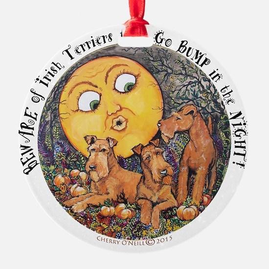 Irish Terrier Halloween Ornament