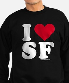Cute I left my heart in san francisco Sweatshirt (dark)