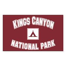 Kings Canyon National Park Rectangle Decal