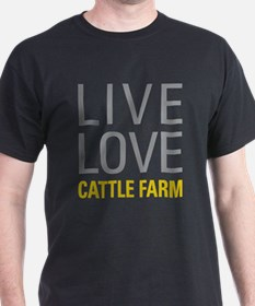 Live Love Cattle Farm T-Shirt