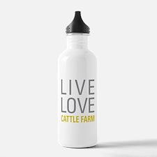 Live Love Cattle Farm Water Bottle