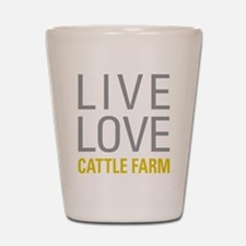 Live Love Cattle Farm Shot Glass