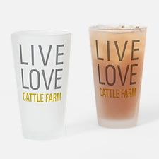 Live Love Cattle Farm Drinking Glass