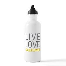 Live Love Cauliflower Water Bottle
