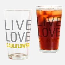 Live Love Cauliflower Drinking Glass