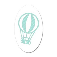 Baloon-Pastel-Green 35x21 Oval Wall Decal