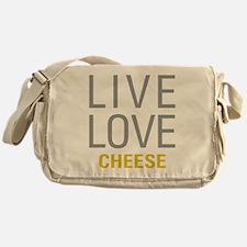 Live Love Cheese Messenger Bag
