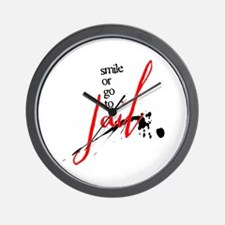 Smile or Go to Jail Wall Clock