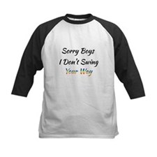 Sorry Boys I Don't Swing Your Way. Baseball Jersey
