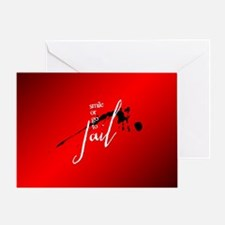 Smile or Go to Jail Greeting Card