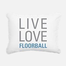 Live Love Floorball Rectangular Canvas Pillow