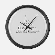 School Bus Driver Large Wall Clock