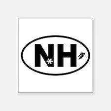 """Funny New hampshire car Square Sticker 3"""" x 3"""""""
