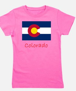 Flag And Name Girl's Tee