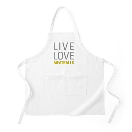 Live Love Meatballs Apron