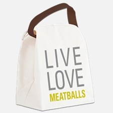 Live Love Meatballs Canvas Lunch Bag