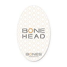 Bones Bone Head Oval Car Magnet