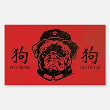 Black Pug Chairman - Dog Decal