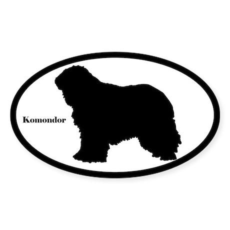 Komondor Silhouette Sticker