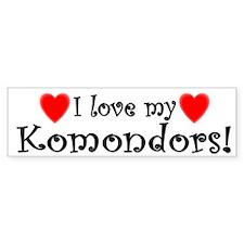 I Love My Komondors Bumper Bumper Sticker