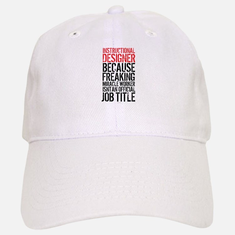Instructional Designer Job Title Baseball Baseball Cap