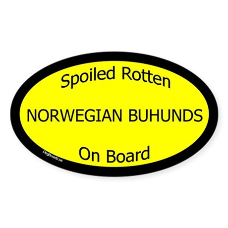 Spoiled Norwegian Buhunds On Board Oval Sticker