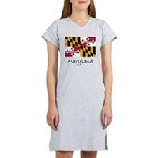 Flag And Name Women's Nightshirt