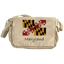 Flag And Name Messenger Bag