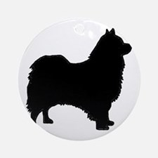 icelandic sheepdog silhouette Round Ornament
