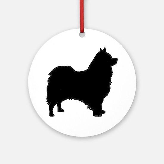 icelandic sheepdog silhouette Round Ornament