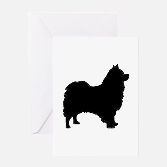 icelandic sheepdog silhouette Greeting Cards