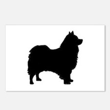 icelandic sheepdog silhouette Postcards (Package o