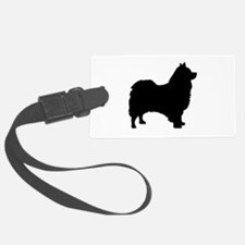 icelandic sheepdog silhouette Luggage Tag