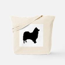 icelandic sheepdog silhouette Tote Bag