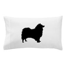 icelandic sheepdog silhouette Pillow Case