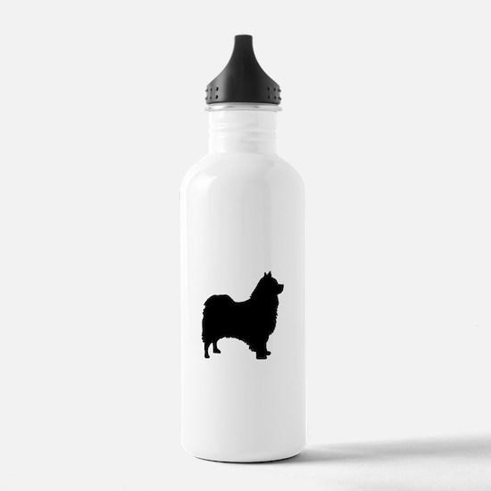 icelandic sheepdog silhouette Water Bottle