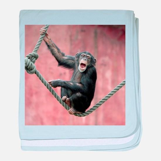 Chimpanzee001 baby blanket