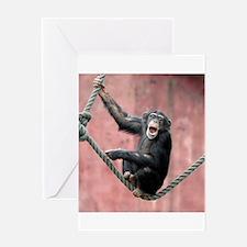 Chimpanzee001 Greeting Cards